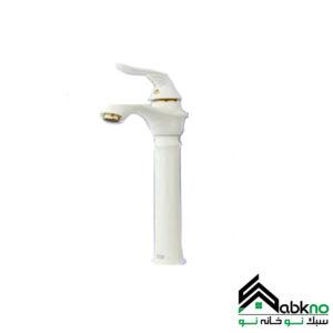 شیر روشویی پایه بلند مدل پریمو سفید راسان