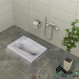 توالت زمینی گلسار فارس مدل سهند