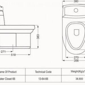 توالت فرنگی مروارید مدل والنتینا