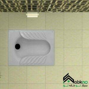 توالت زمینی گلسار فارس مدل یاس